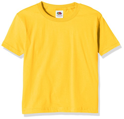 Fruit of the Loom Jungen T-Shirt Ss124b, Gelb - Yellow (Sunflower Yellow), 10-11 Jahre (Goth-band-t-shirts)