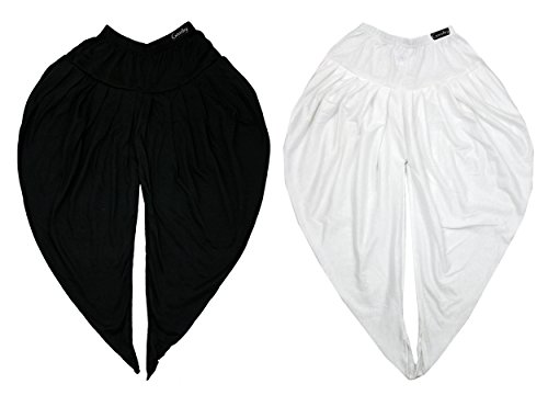 GOODTRY Girls Butterfly Dhoti Pant Pack of 2-Black-White