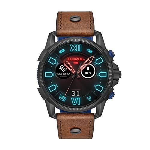 Diesel Herren-Smartwatch mit Leder Armband DZT2009