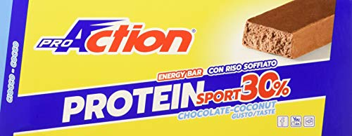 Proaction protein sport 30% (ciocco cocco, confezione da 30 barrette da 35 g)