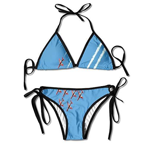 Triángulo Sexy bañándose Dos Piezas Fashion Cherry