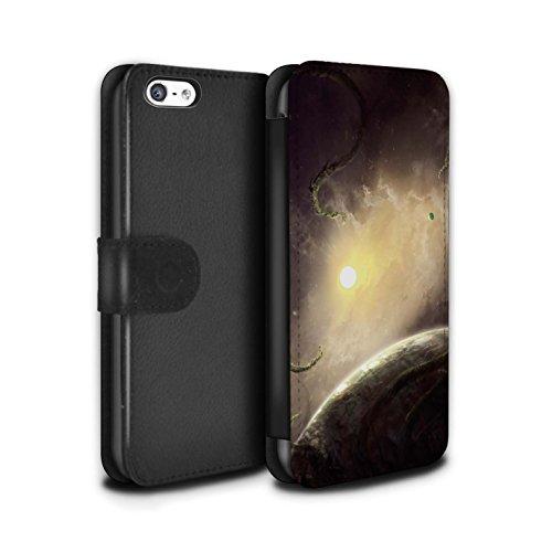 Offiziell Chris Cold PU-Leder Hülle/Case/Tasche/Cover für Apple iPhone 5C / Exoplanet Muster / Galaktische Welt Kollektion Entfernten Stern
