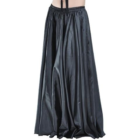 Dance Fairy Hada de la danza de vientre de la danza de raso vestido de la pretina elástico Efecto Diseño Gran Escenario Negro