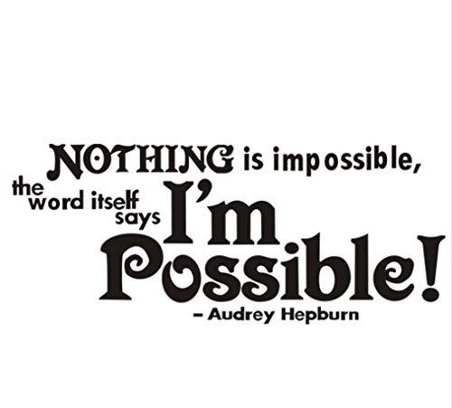 Audrey Hepburn Inspirational Quotes Wandkunst Aufkleber Zitate DIY Removable Vinyl Aufkleber für Home Schlafzimmer Dekor 26,3x11,8cm