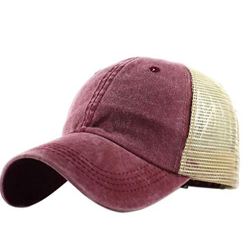 Jinzuke Unisex Free Size Mesh-Baseballmütze Männer Frauen Adjustable gewaschener Baumwolle Shade Sun Outdoor Sports Hut