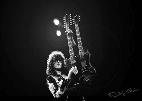 14 Led Zeppelin Jimmy Page, Robert Plant, John Bonham, John Paul Jones Great Rock Metal Bilderrahmen, Design-Album Band, für Poster, A3
