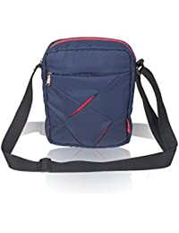 COSMUS Polyester Navy Blue-Red Messenger Bag
