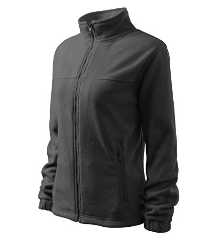 Damen elegante Fleecejacke Outdoor Pullover Fleece (Grau, XL)