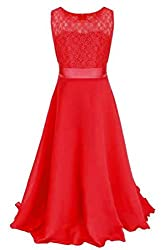 YMING Girls elegant lace Long Pageant Evening Dress 4 14 Years