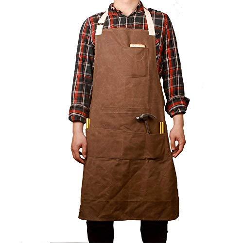 Adult Machen Kostüm Einfach Zu - Strapazierfähige Unisex-Schürze, strapazierfähig, gewachst, wasserfest, für Werkstattwerkstätten geeignet, geeignet für Werker, Ingenieure, Schreiner, Gärtner (CYWQ04-U)