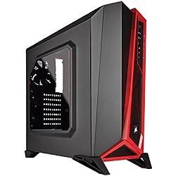 Fierce TERRA 8 Gaming PC - Veloce 2 x 3.8GHz Dual-Core AMD A-Series 9500, 1TB Disco Rigido, 8GB di 2133MHz DDR4 RAM / Memoria, AMD Radeon R5 Grafica Integrata, Gigabyte Ultra-Durable GA-A320M-S2H Scheda Madre, Corsair Carbide Spec Alpha Nero/Rosso Cassa, HDMI, USB3, Wi - Fi, Entrata perfetta nei giochi per PC, Finestre non Incluso, 3 Anni Di Garanzia 220153