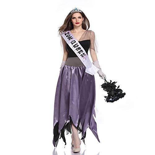 Shisky Cosplay kostüm Damen, Halloween-COS-Ghost Braut Tod blutige Hölle Göttin Bühne Spielen Kostüm (Halloween Braut Des Todes)