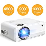 "Projector APEMAN Mini Portable Projector 4000 Lumen 1280*720P LED Projector 200"" LCD Home"