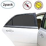 Guenx Pare soleil Voiture pour Bébés, 2 Pièces Pare Soleil Voiture Pour fenêtre latérale arrière Offre une protection UV maximale pour bébé, enfant et chien
