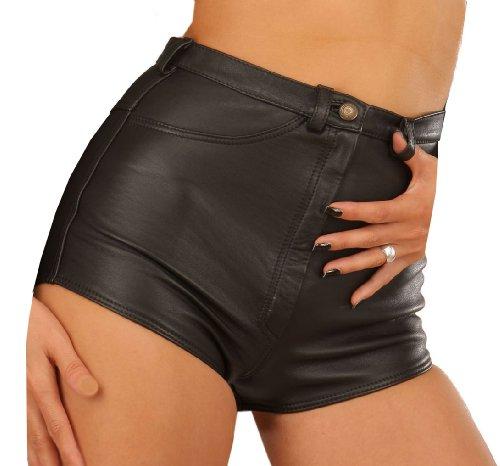 Damen echt Leder Hose kurz Hotpants