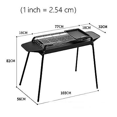 Xiao Jian- Grill-Grill Startseite Holzkohlegrill 5 Personen oder mehr Wild 3 Aufsteckspindeln Vollkohlenstoff-Ofenherd-Regal Unabhängiger Carbontrog Höhenverstellbar Grill