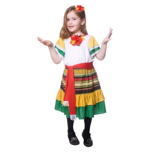 Dress Up America 484-L Little Girl Mexican Dancer Kostüm, Alter 12-14 (Taille 34-38, Höhe 50-57 Zoll) (Little Girl Dress Up Kostüme)