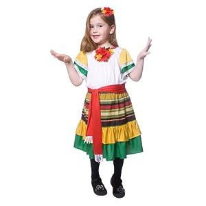 Dress up America - Bailarina mexicana, disfraz talla L, 12-14 años (484-L)