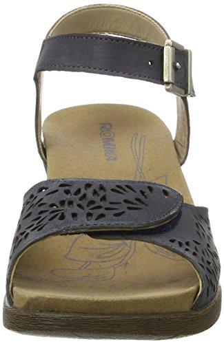Romika Nevis 05, Sandali con Piattaforma Donna Grigio (Jeans)