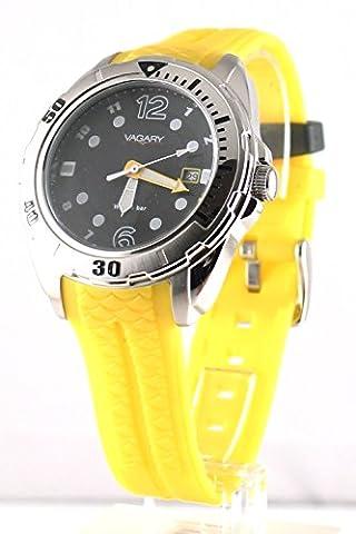 Vagary by Citizen ID 8-918-52 montre-bracelet Polyuréthane Jaune