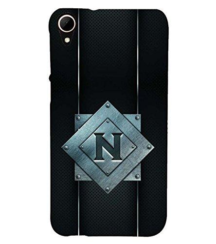 YuBingo HTC Desire 828 Dual Sim Designer Phone Back Case Cover ( Nice Letter N (Metal Finish Plastic) )