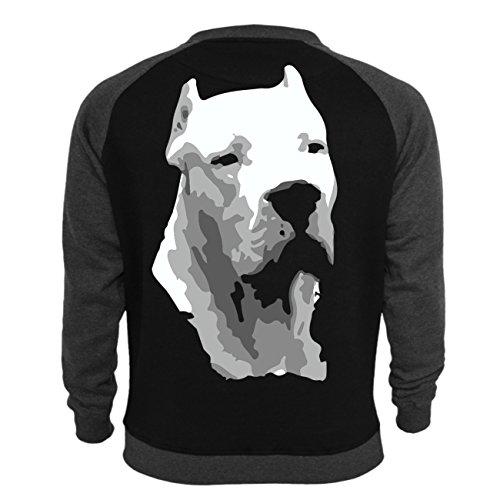 Männer und Herren Pullover Dogo Argentino BOSS (mit Rückendruck) Schwarz/Dunkelgrau