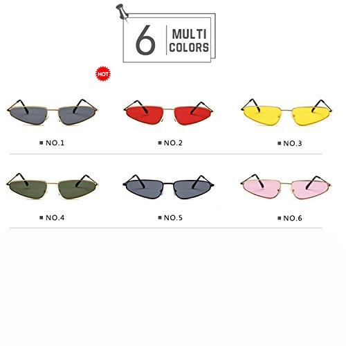 Lvjuzhuangshieur Retro Vintage Sonnenbrille mit Metallrahmen - Hawkeye Shape - Brille für Herren (Color : NO.1)