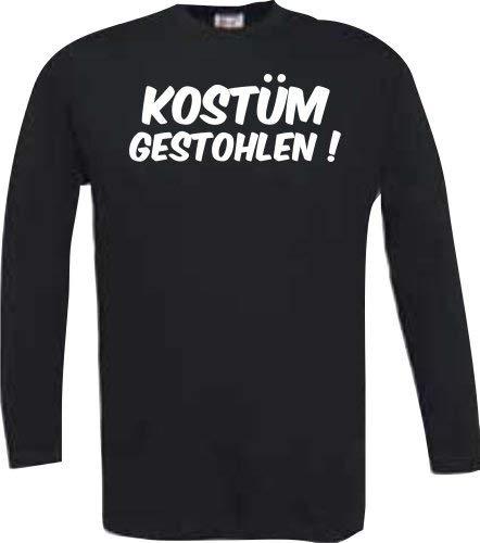 (ShirtInStyle Longsleeve Kostüm gestohlen ! Farbe schwarz, Größe L)