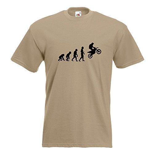 KIWISTAR - Evolution Motocross Motorrad T-Shirt in 15 verschiedenen Farben - Herren Funshirt bedruckt Design Sprüche Spruch Motive Oberteil Baumwolle Print Größe S M L XL XXL Khaki