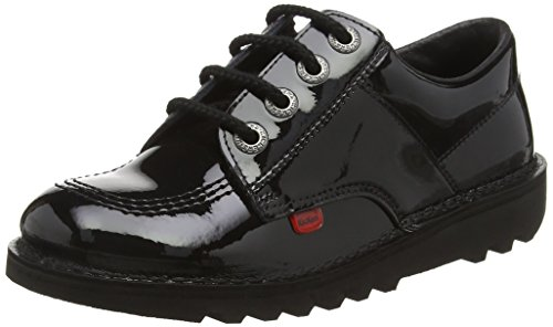 Kickers Lo Core, Mocassins Mixte Enfant Noir