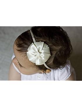 Golden haz marfil flores niña diadema–marfil Kate lazo diadema hecha a mano–Baby a adulto diadema–Diadema...