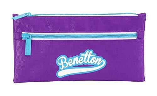 Benetton – Portatodo doble, 22 x 11 cm, color morado (Safta 811552029)
