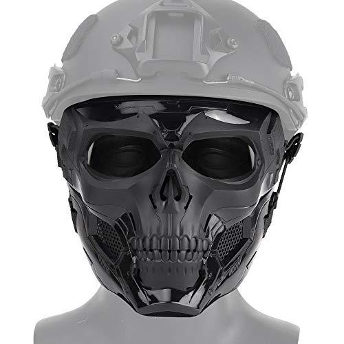 Maske, schädel gesichtsschutzmaske für Airsoft/Paintball/bb Gun/cs Spiel/Jagd/schießen, gruselhelm für Halloween, Cosplay, kostüm Party, Trick Spielen und filmrequisit ()