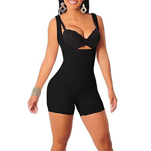 25df35798 GODGETS Mujer Corset Faja Abdomen Corsé Busto Abierto Body Cintura  Adelgazante Lencería Moldeadora Shapewear Negro XL