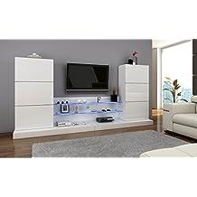 Wohnzimmermöbel modern weiß  Suchergebnis auf Amazon.de für: Wohnwand modern Hochglanz