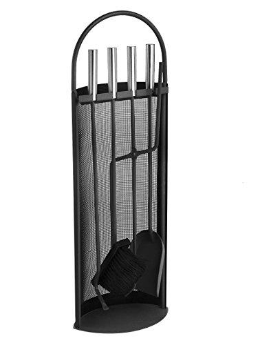 *Lienbacher Kaminbesteck – schwarz beschichtet mit Griffen Edelstahl*