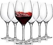 [3Diamonds] Wine Glass Set of 6 , Crystal Red Wine Glasses 11.75 oz, All-purpose Wine Glasses Set for Celebrat