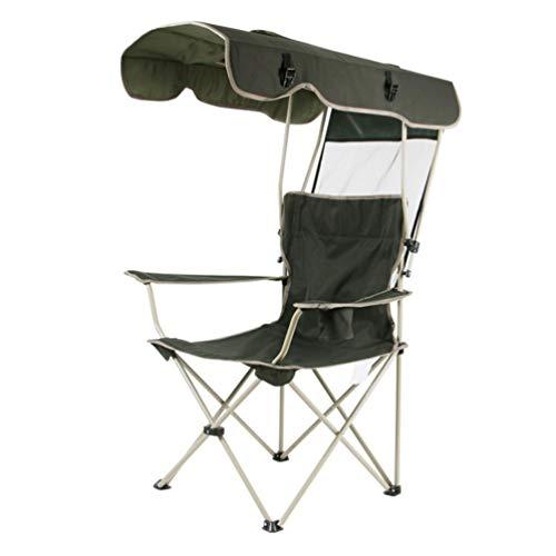 amp Stuhl Mit Baldachin-300lb Kapazität Sonnenschirm Quad Sitz Mit Getränkehalter, Angeln Klappstuhl Freizeit Tragbare Sonnenschirm Strandkühler, Tragetasche-Heckklappe, Camping, ()