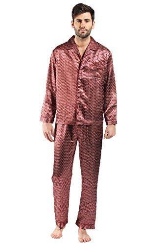 Preisvergleich Produktbild Harvey James Herren Morgenrock Morgenmantel, Paisley * One size Gr. L, Pyjamas - Red