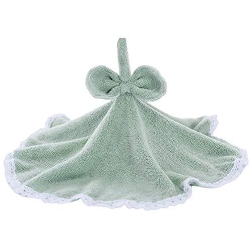 Hängende Bogen (UPKOCH 1 stücke Quick Dry Handtücher Nette Runde Bogen Korallen Samt Hängende Handtücher für Bad Küche - Grün Schwarz)