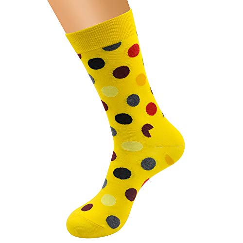 iHAZA Frauen Nette Baumwoll Punkt Spleißmuster Socken Schlauch Bequeme Socken (Mädchen Kostüm Oberschenkel Hohe Schlauch)