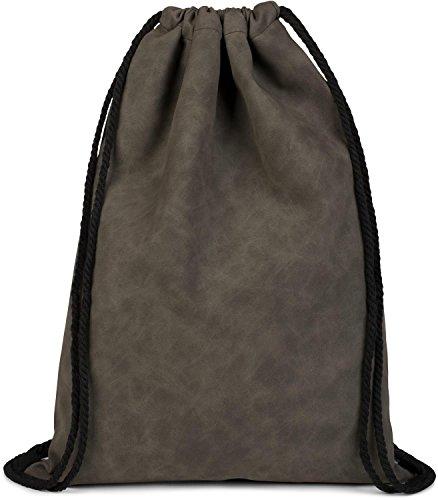 styleBREAKER borsa sportiva in pelle sintetica, borsa sportiva, zaino, bauletto, unisex 02012189, colore:Blu Grigio scuro