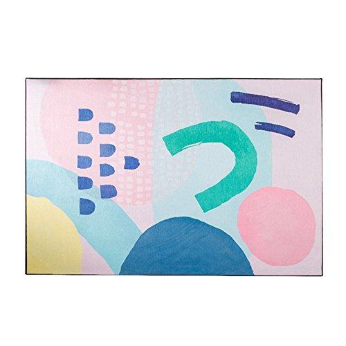 LiuJF Bunter Teppich, heller zeitgenössischer Entwurfs-Bereich Teppich-Rosa-Blau | Länge 140 * 200cm (Farbe : B, größe : 140 * 200CM) -