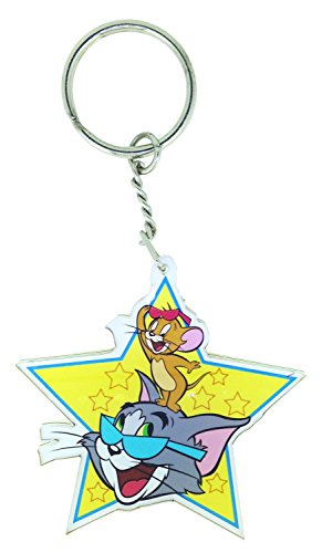 WB Tom n Jerry Star Keychain / keyring for Home / Luggage / Car / Bike / Vehicle  available at amazon for Rs.119