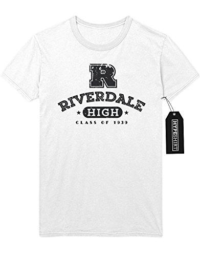 """T-Shirt Riverdale """"RIVERDALE HIGH"""" C210063 Weiß"""