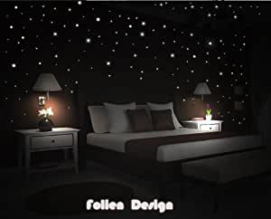wandtattoo kinderzimmer schlafzimmer leuchtender sternenhimmel leuchten fluoreszierend sterne. Black Bedroom Furniture Sets. Home Design Ideas
