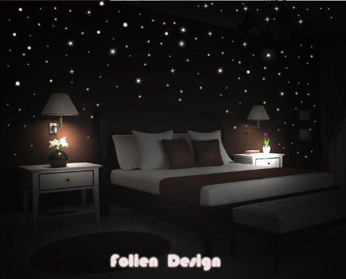 Schlafzimmer Sternenhimmel wandtattoo kinderzimmer schlafzimmer leuchtender sternenhimmel