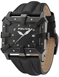 Police PL.13400JSB-02 - Reloj analógico de cuarzo para hombre, correa de cuero color negro