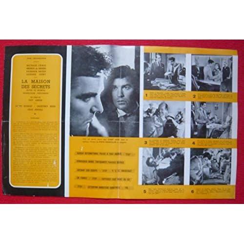 Dossier de presse de La maison des secrets (1957) - 48x31cm – Film de Guy Green avec David Kossof, Geoffrey Keen, Julia Arnall,– Photos N&B – résumé du scénario - Bon état