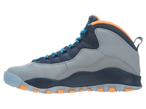 Nike Herren Air Jordan Retro 10 Basketballschuhe, Grau Wolf Grey/Dark Powder Blue